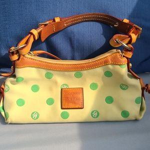 Vintage Dooney & Bourke polka dot shoulder bag